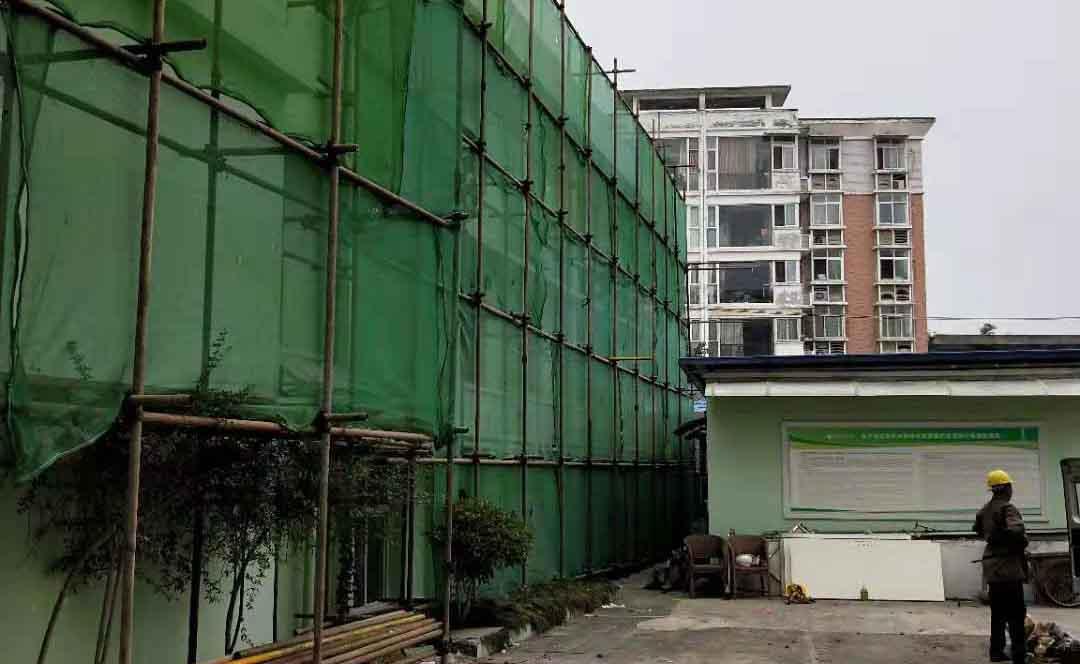 德阳旌阳区锦江妇产医院钢管架搭建