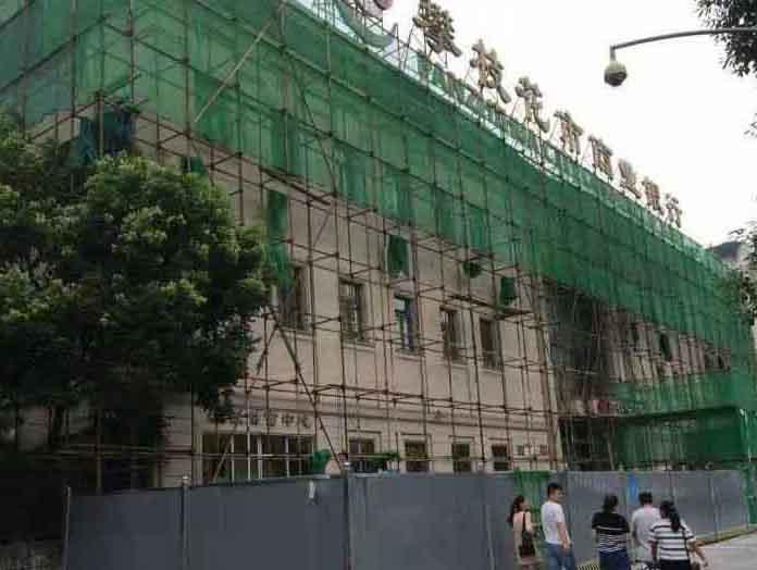蜀汉路攀枝花商业银行外加搭建及施工打围