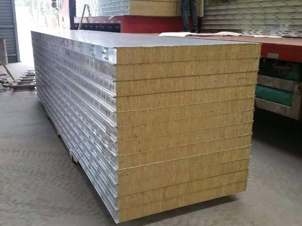 彩钢岩棉复合板夹芯板生产