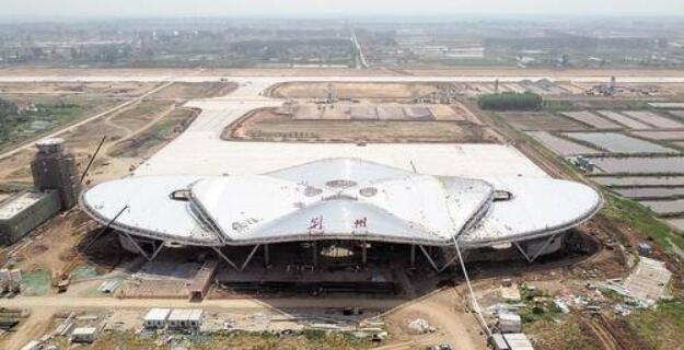 荆州机场主体工程完工航拍图