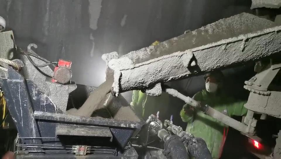 成都灌浆泵施工视频