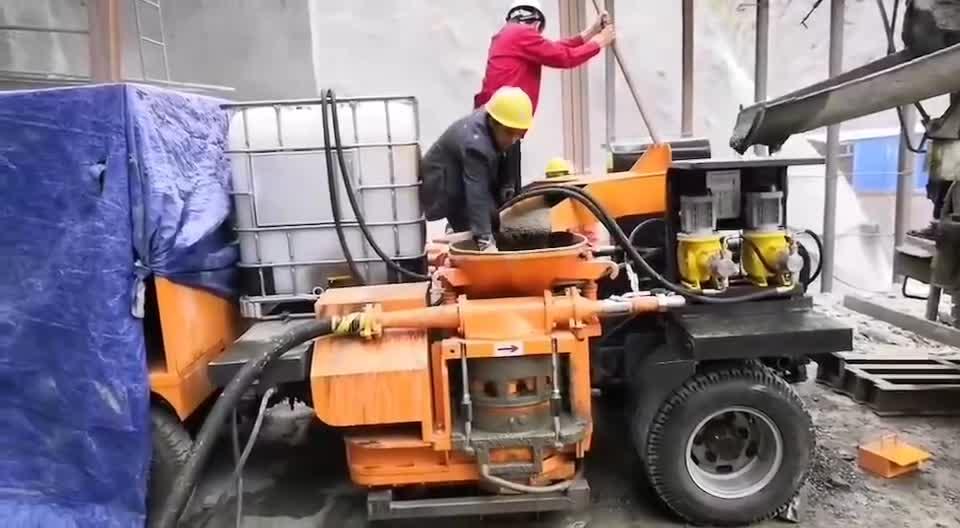 轉子式雙噴混凝土濕噴車