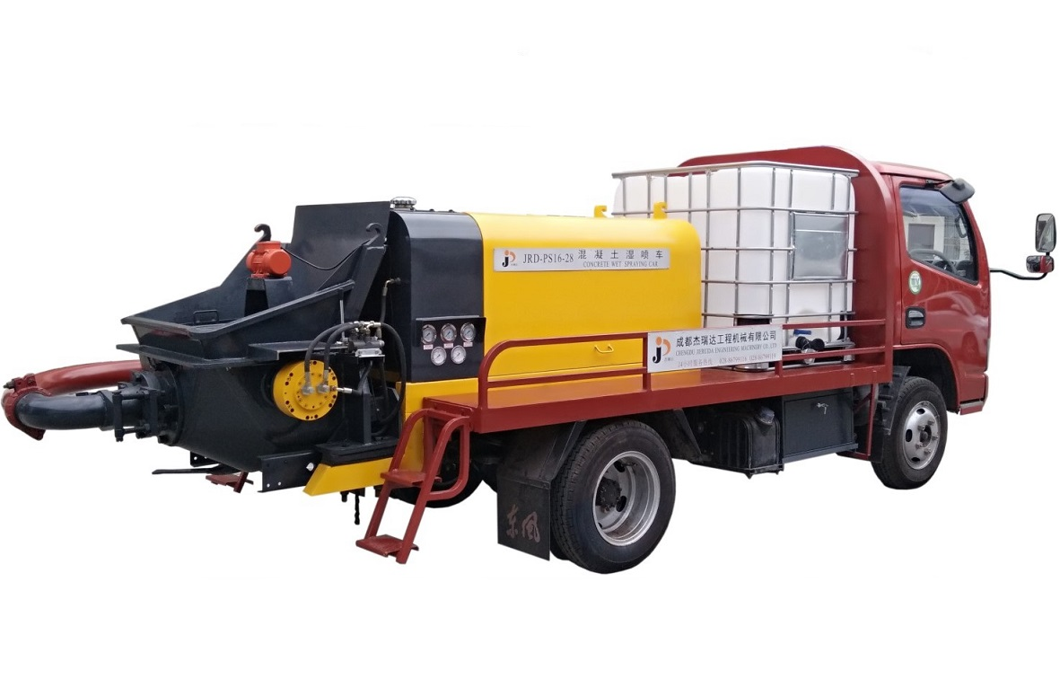 噴漿機-PS16-28液壓雙噴混凝土噴漿機車