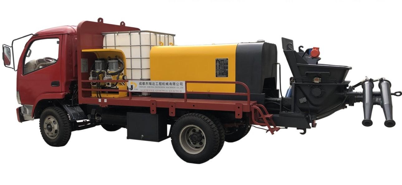 混凝土濕噴車-PS16-28液壓雙噴混凝土濕噴車
