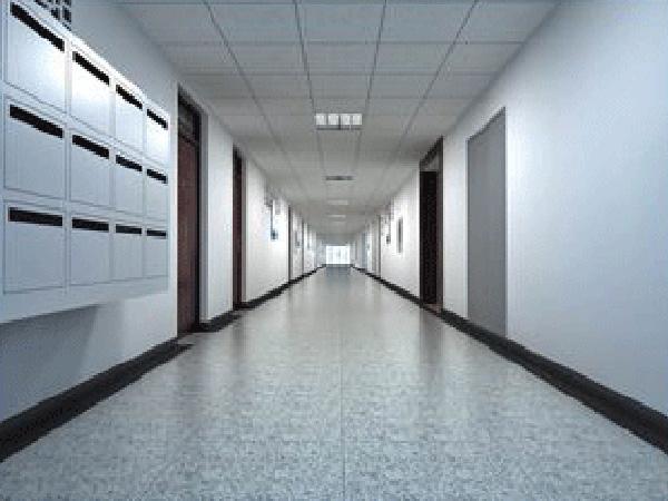 兰州培蕾艺术学校教室走廊