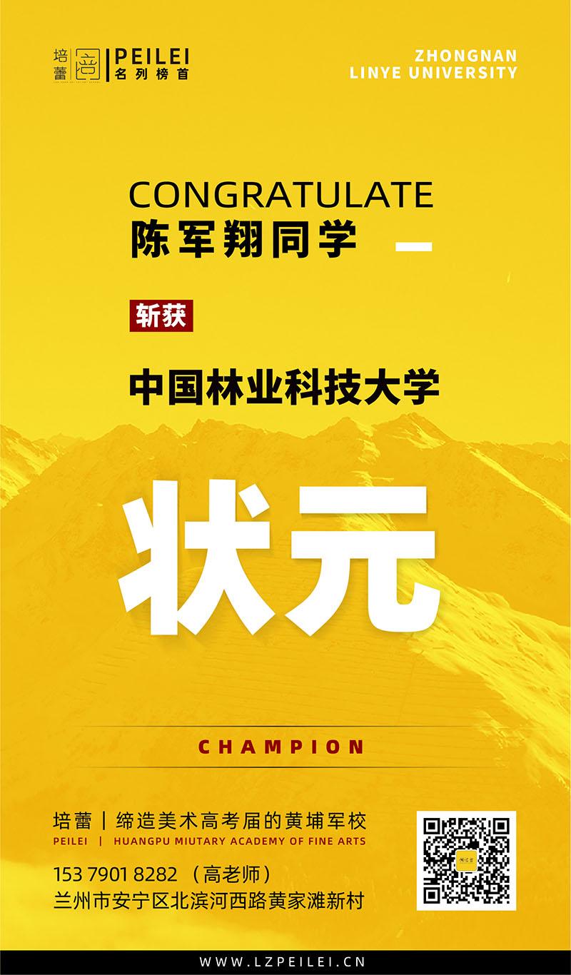 陈军翔斩获中国林业科技大学状元