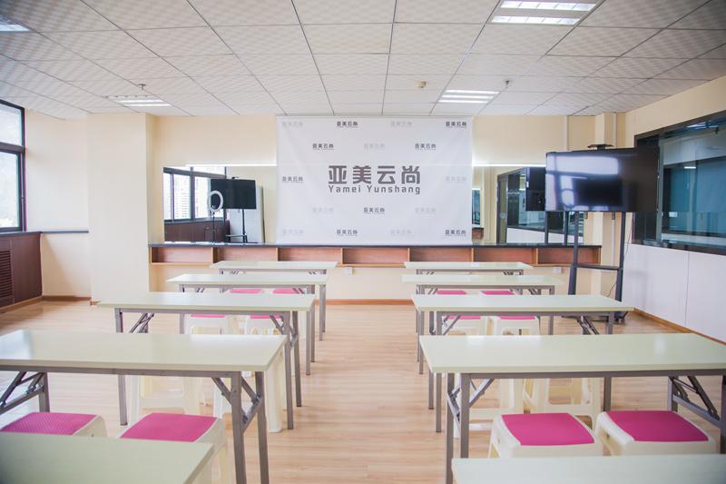 蘭州化妝學校亞美云尚國際教育基地教室掠影