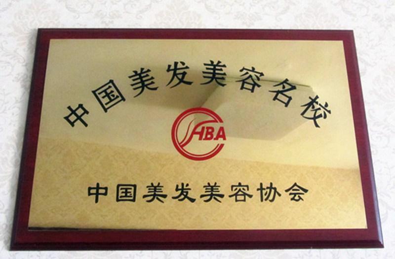 我校被中國美發美容協會評為中國美發美容名校