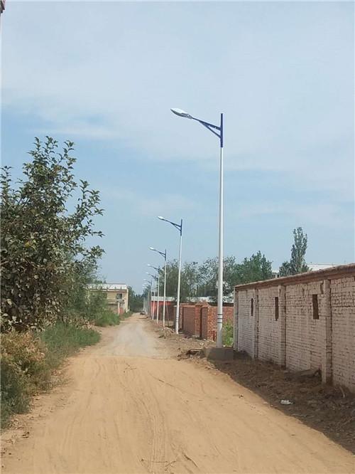 鲁新盛达在农村安装路灯杆的案列