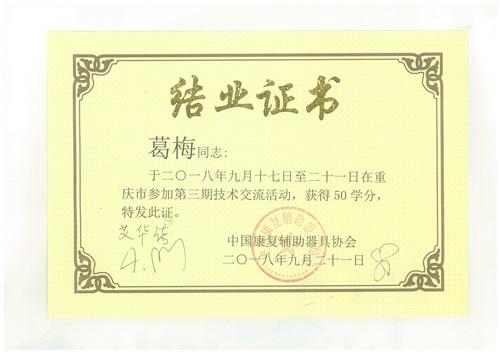 结业证书2018年