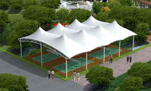 陕西膜结构网球场安装