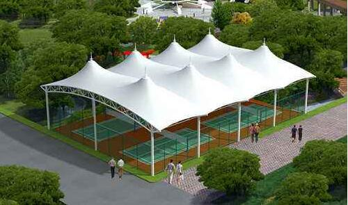 公用膜结构车棚和家用铝合金车棚有什么区别?看陕西膜结构网球场公司具体的详解?