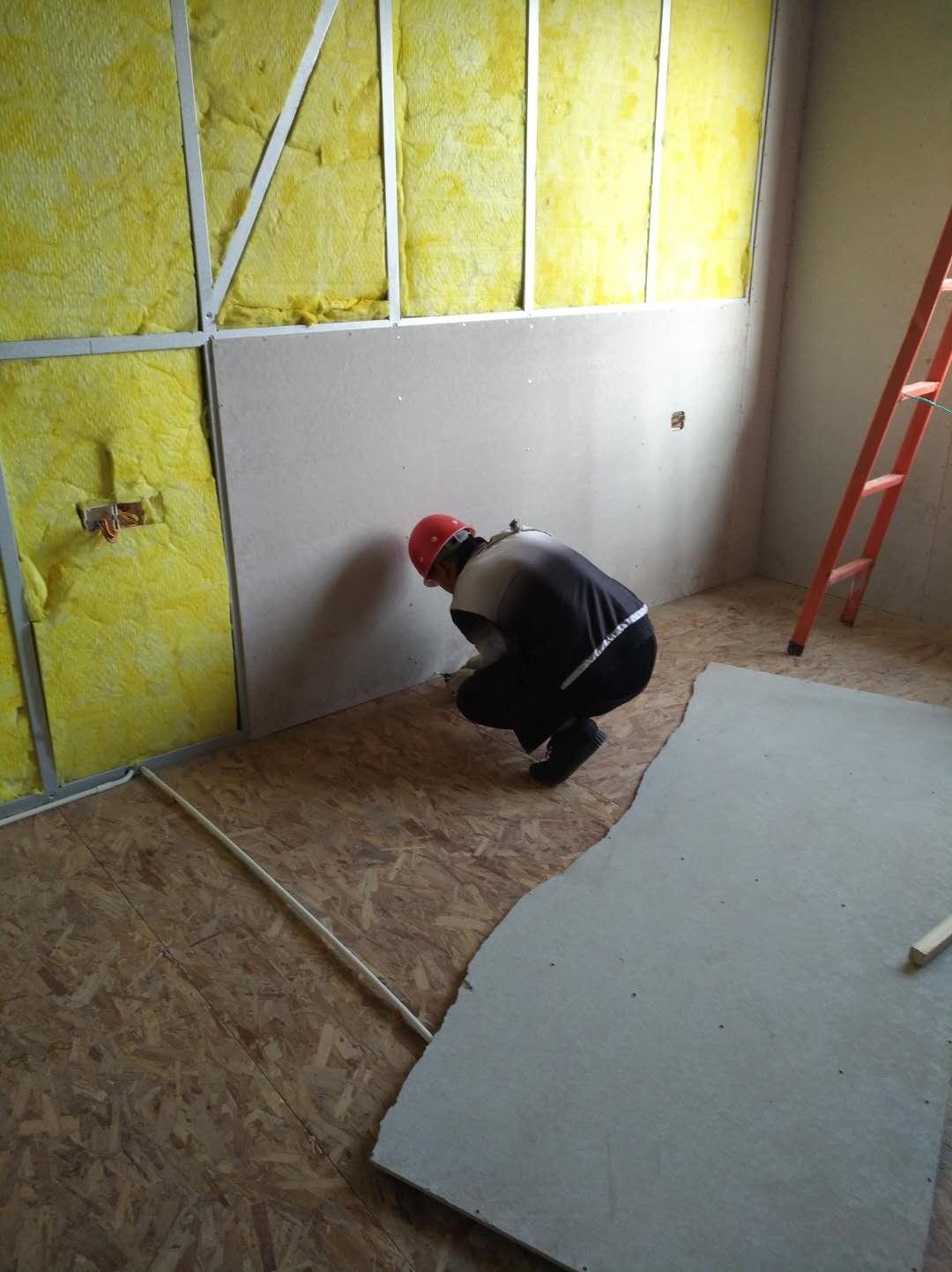 保温棉板轻钢隔墙施工
