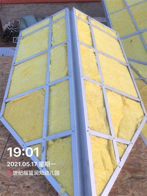 屋顶保温棉填充