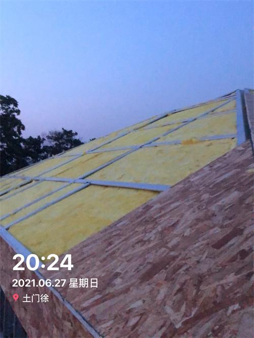 屋顶保温填充
