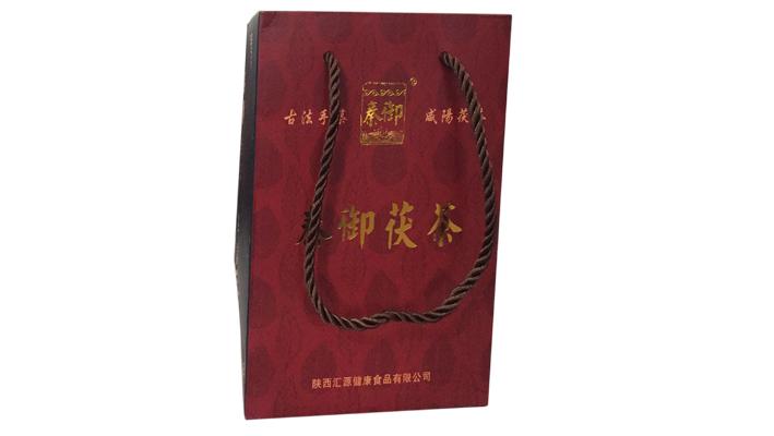 秦御茯茶高檔手提袋