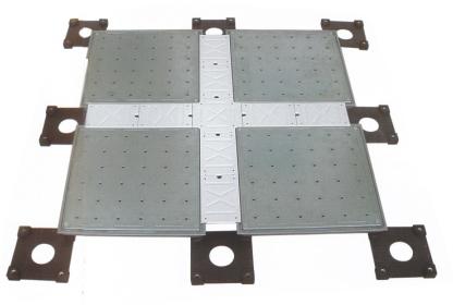 扣槽式中空网络地板