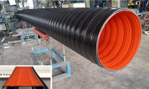 成都聚乙烯塑钢缠绕管-双色A型结构