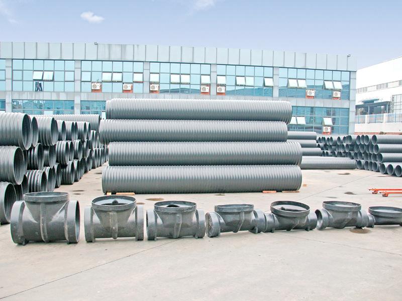 成都中空壁塑钢缠绕管工厂展示