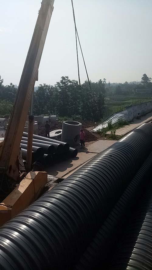 成都钢塑排水管-宜宾案列