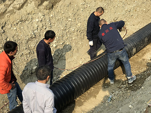 成都中空壁塑钢缠绕管-彭州案例