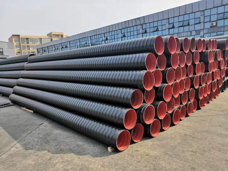 双色聚乙烯塑钢缠绕A型结构壁管