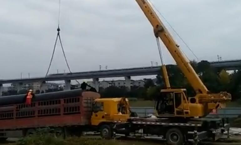 11.10鑫川众管材施工现场视频