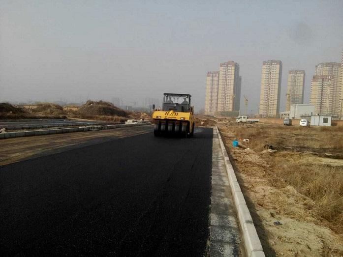 港务区浐灞湿地公园沥青混凝土施工