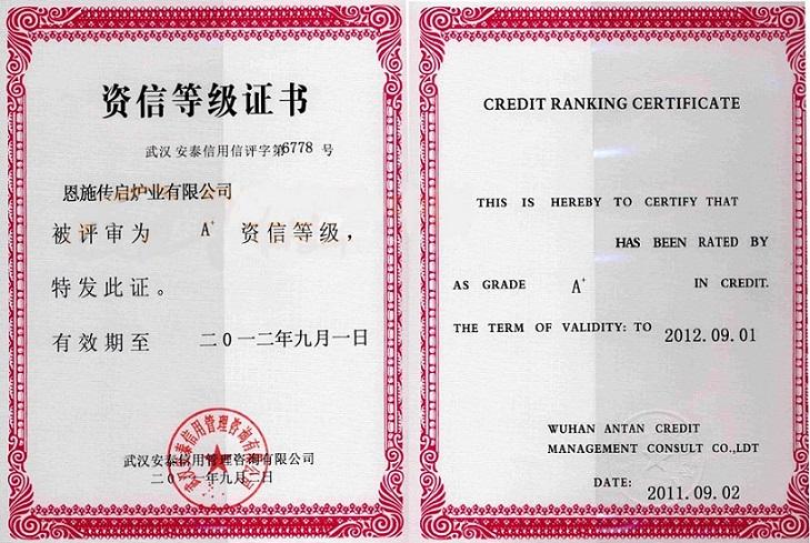 资信等级证书