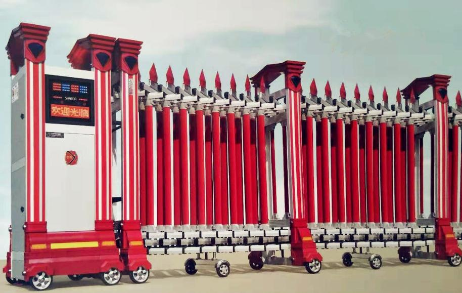 榮耀電動伸縮門307A—紅色廠家直銷