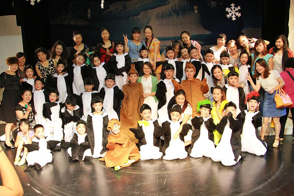 蘭州尤美化妝學為音樂兒童話劇《快樂的大腳》化妝支持