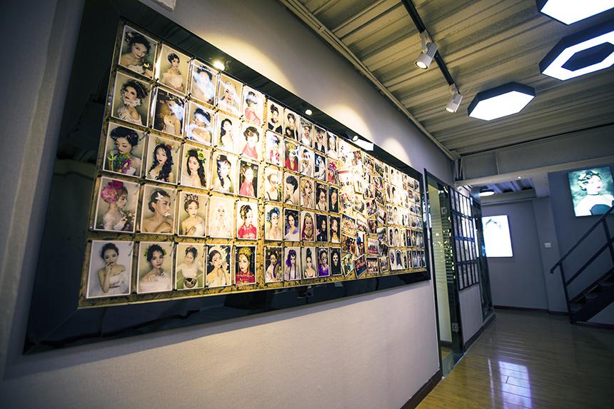 尤美化妆学校学员作品展示区