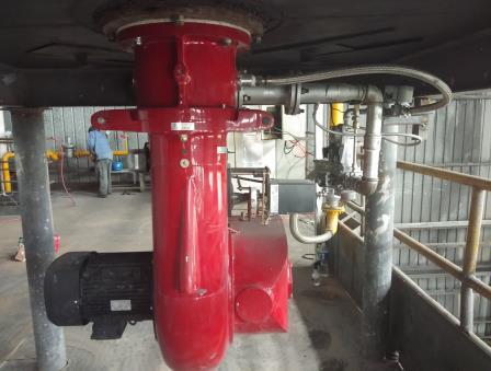 天然气热风炉安装案例