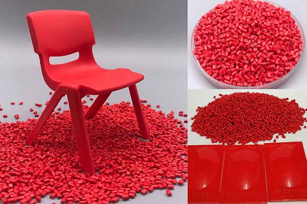红色色母粒应用在注塑制品中