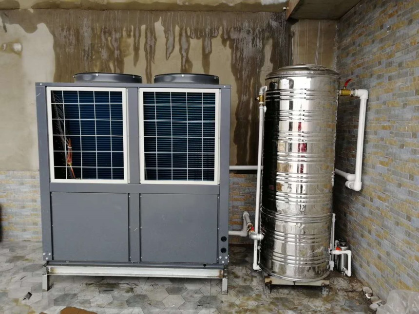 包头别墅安装15匹内蒙古空气能制冷两联供机组供360平方米