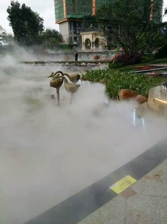 人工景观造雾施工