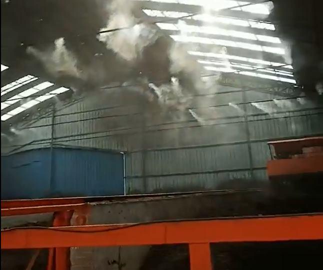 兰州大帝长城有机肥发酵车间喷雾除臭案例