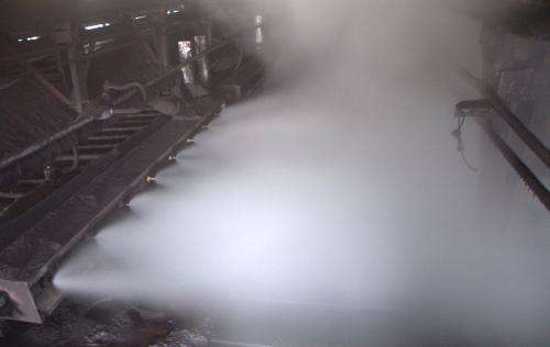 喷雾除尘施工