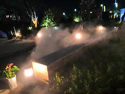 小区售楼部景观造雾