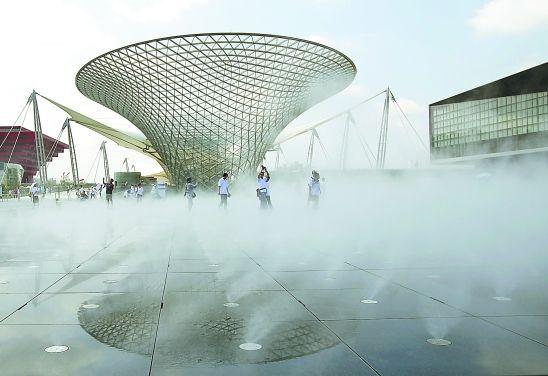 室外广场造雾降温