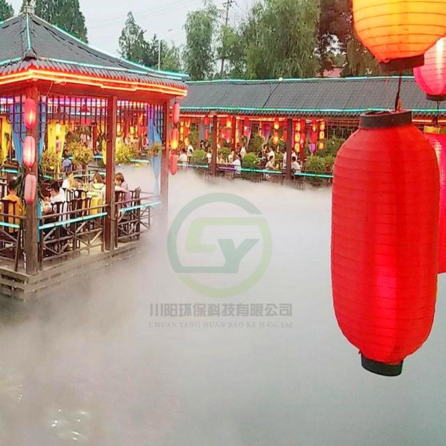杭州景区人工造雾案例
