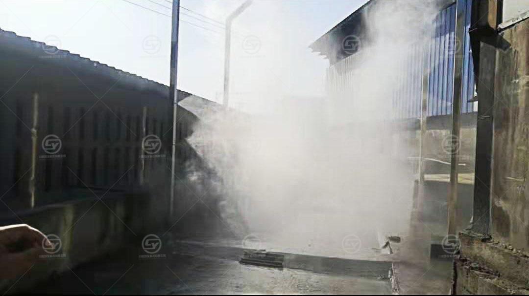 重庆江津各大屠宰场车辆消毒通道