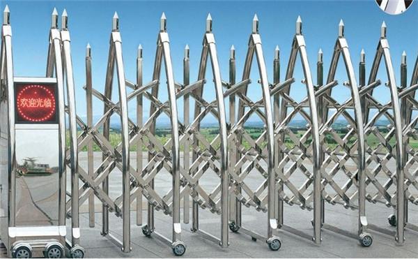 电动不锈钢伸缩门生产