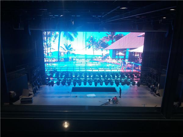西安曲江海洋馆室内P5  180平方高清全彩LED显示