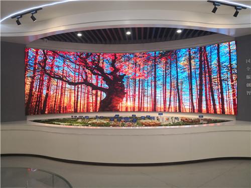 西安交大西迁博物馆室内1.8弧形屏20平方