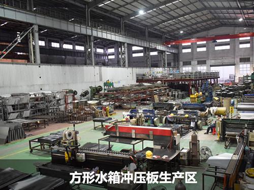方形水箱冲压板生产区
