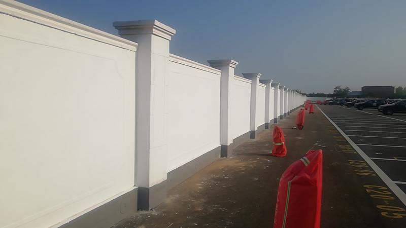 中建三局咸阳西部云谷项目围墙