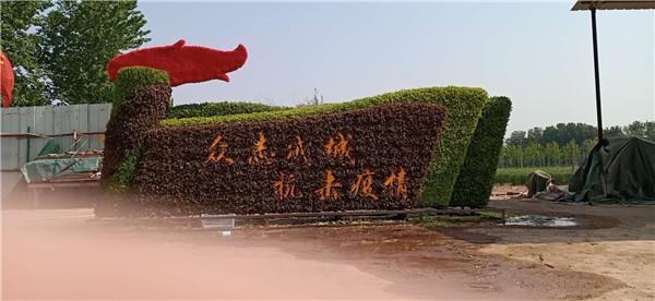 五色草造型施工