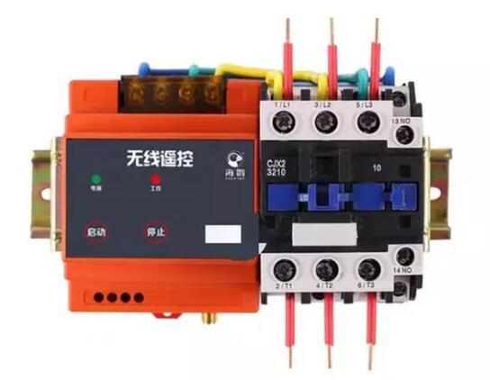 一个遥控接收器控制一个交流接触器