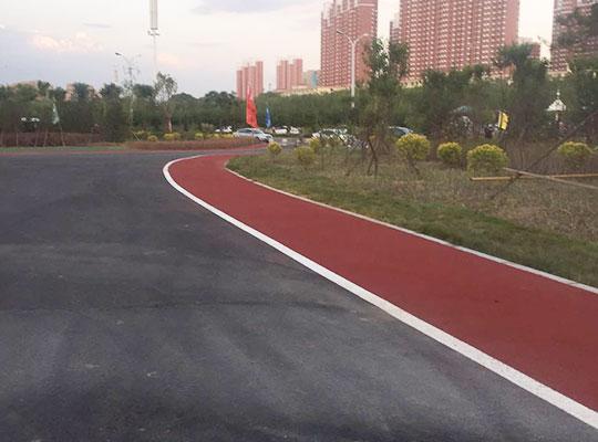 彩色防滑路面施工案例